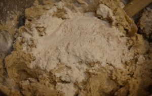 Incorporate dry into butter mixture