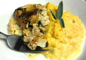 Slow Cooker Balsamic Chicken with Butternut Squash