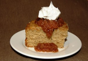 Spice Cake with Warm Applesauce