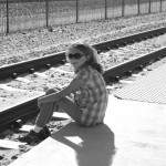 girl near tracks